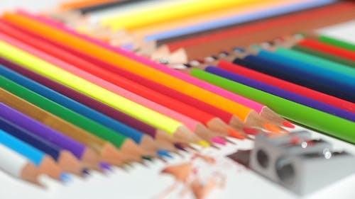 Color Pencils And Pencil Sharpener