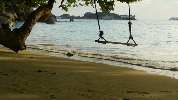 Thumbnail for A Rope Swings On The Beach