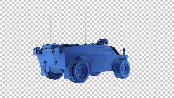 Fennek Armed Vehicle - 3d Outline