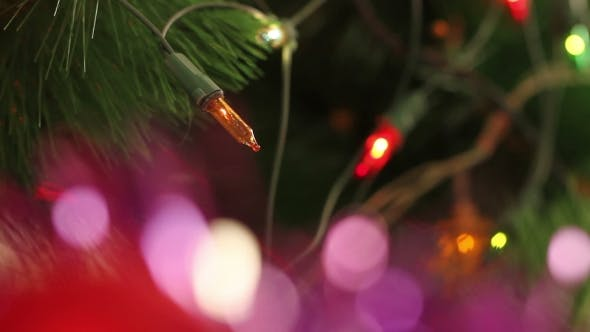 Thumbnail for Flashing Garland Decorated Christmas Tree