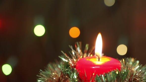 Thumbnail for Burning Christmas Candle.