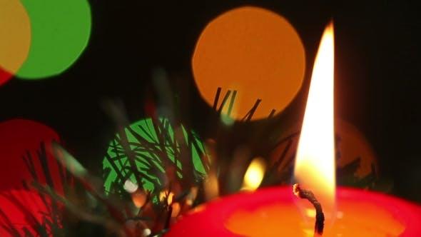 Thumbnail for Brennende Weihnachtskerze