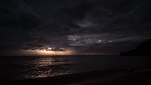 Thumbnail for Thunderstorm Clouds At Night