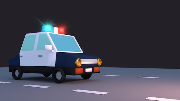 Thumbnail for Toon Police Car Pack