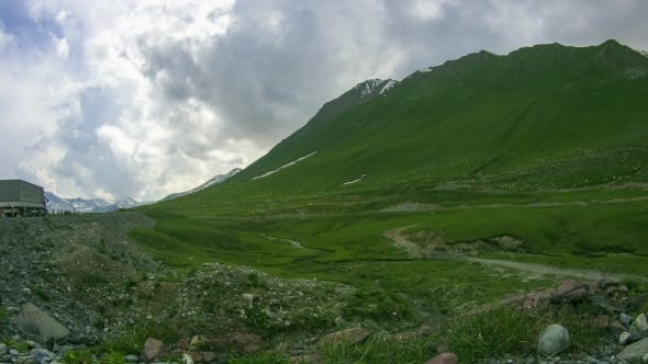 Thumbnail for Huge Flock Of Sheep Grazing On The Georgian Mountains.