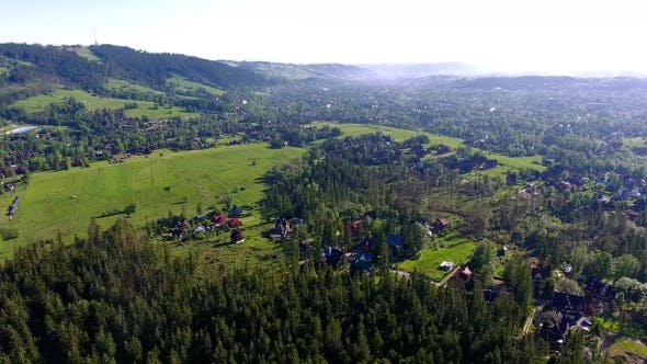 Thumbnail for Green Montains Valley Aerial View