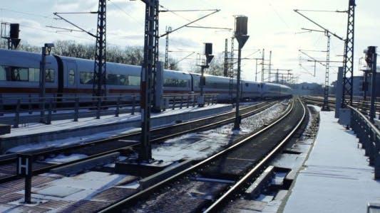 City Train Arrival In Berlin