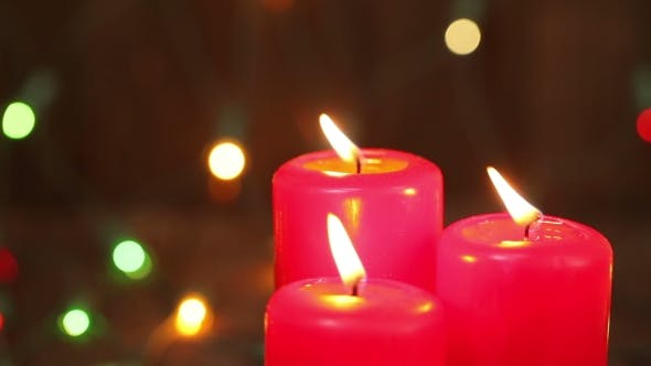 Thumbnail for Three Christmas Candles. Blow Out The Fire