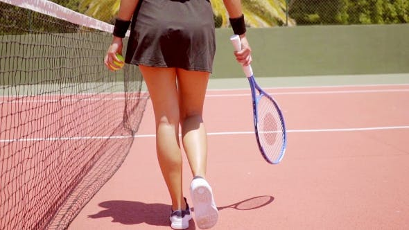 Thumbnail for Athletic Young Woman Tennisspieler