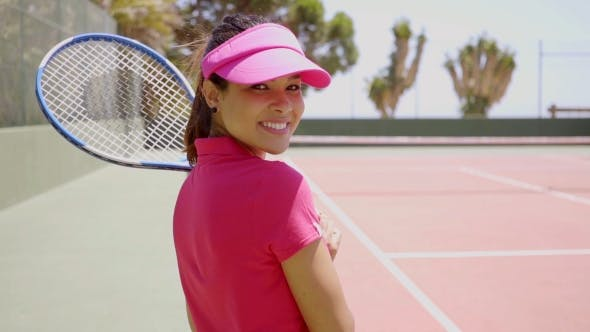 Thumbnail for Pretty Young Woman Tennis Player