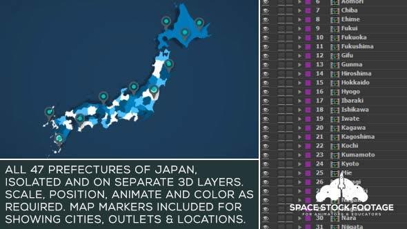 Japan Map Kit