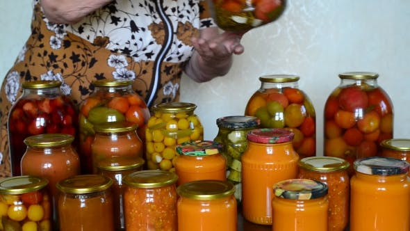 Thumbnail for Mature Housewife Closes Banks Of Homemade Preserves