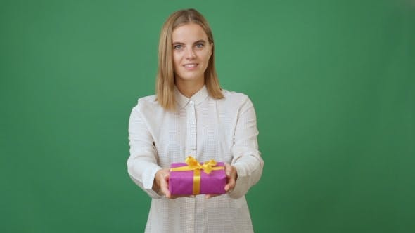 Thumbnail for Woman Holding Out a Present