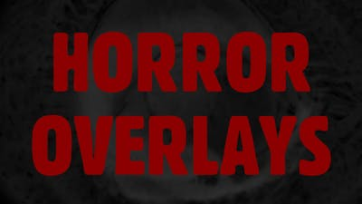 Horror Film Overlays Pack.