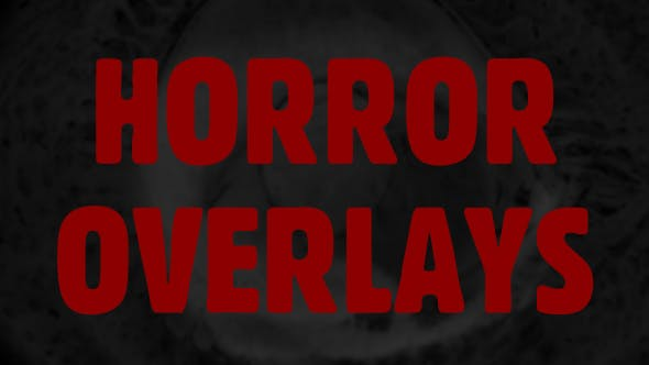 Thumbnail for Horror Film Overlays Pack.