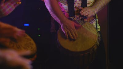Drummers Perform On The Stage
