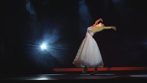 Classical Ballet Ballerina On Pointe
