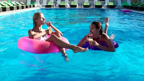 Thumbnail for Girlfriend Swim Rubber Ring Drink Alcohol