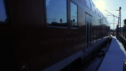 Thumbnail for Train Departing From A Station