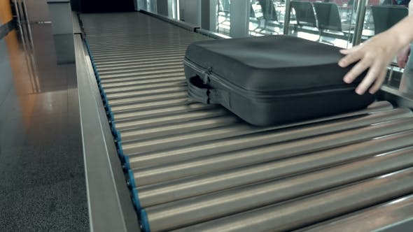 Thumbnail for Luggage Is Being Transported To The Checking Area