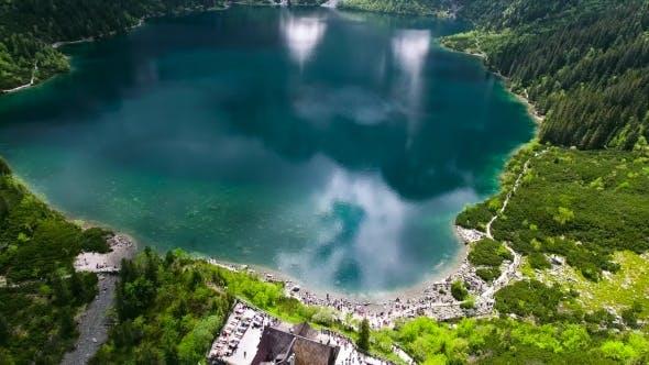 Thumbnail for Beautiful Mountain Lake With Waterfals