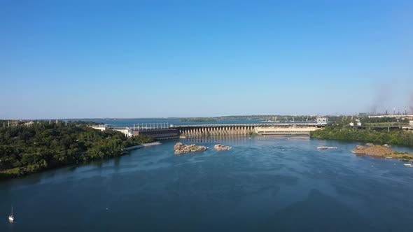 Thumbnail for View of the Dnieper Hydroelectric Dam From the Island of Khortytsya