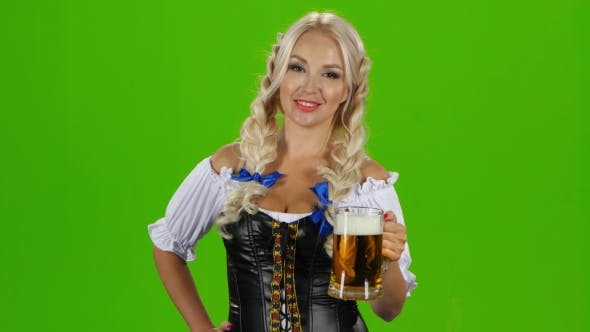 Thumbnail for Beautiful Young Blond Girl Of Oktoberfest Beer Stein