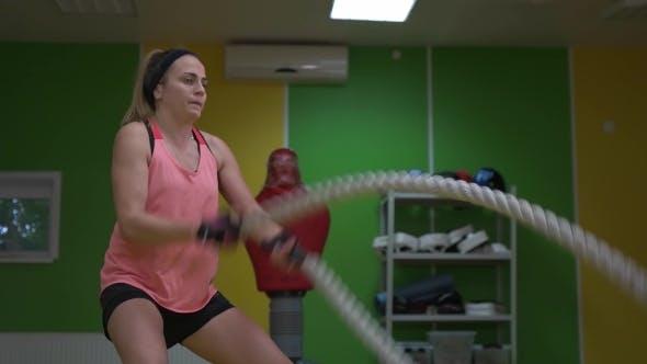 Thumbnail for Girl Boxer Makes Exercise