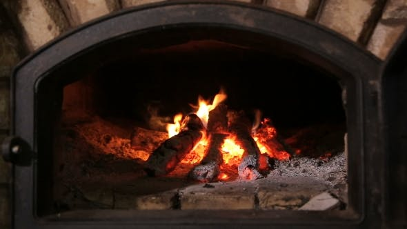 Thumbnail for Firewood Burning In The Fireplace