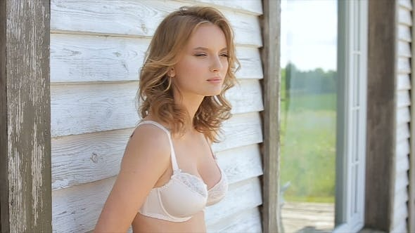 Thumbnail for Female Model Posing In Underwear