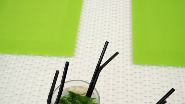 Thumbnail for Alcoholic Cocktails With Mint And Lemon
