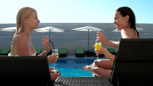 Thumbnail for Women Drinking Cocktail On Vacation