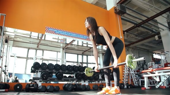 Thumbnail for Young Woman Doing Exercises On Training Apparatus In Gym