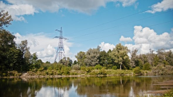 Thumbnail for Electricity Power Lines and High Voltage Pylons on a Field in the Countryside