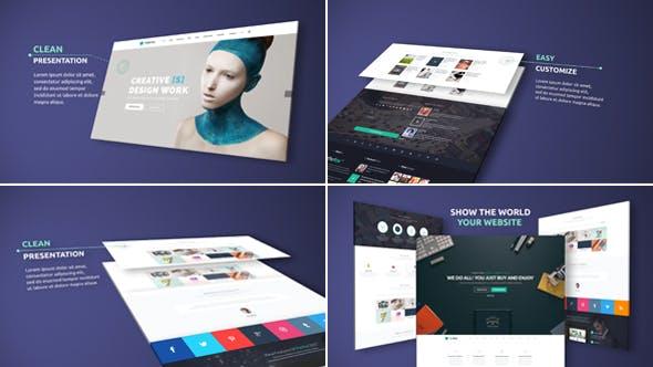 Presentación elegante del sitio web