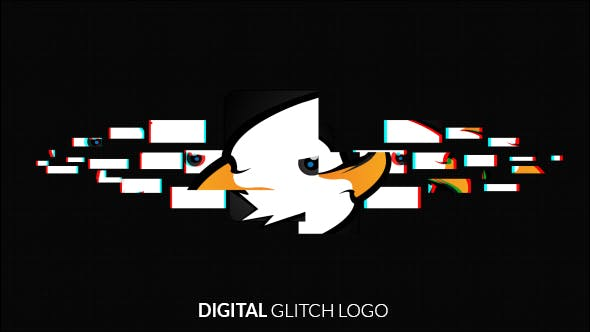 Thumbnail for Digital Glitch Logo Reveal