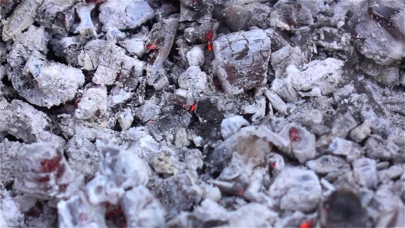 Thumbnail for White Ash. Smoldering Embers In The Fire.