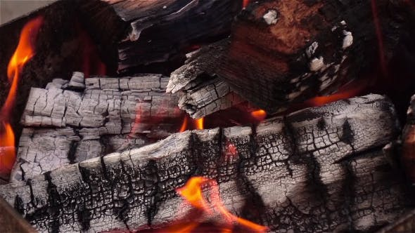 Thumbnail for Fireplace And Burning Firewoods.
