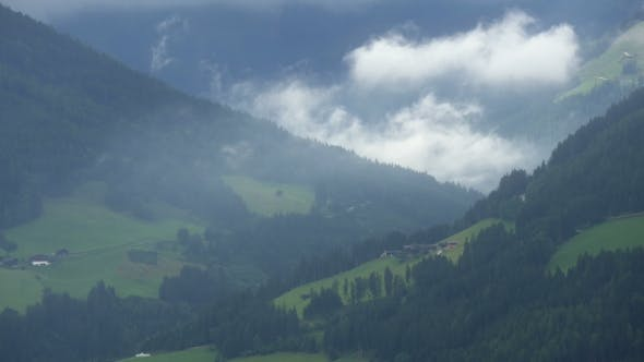 Thumbnail for Spectacular Alpine Mountains And Flying Clouds