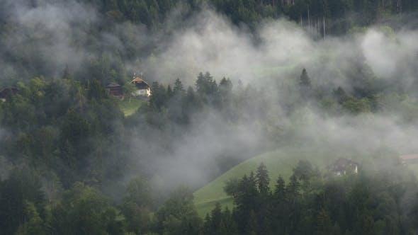 Thumbnail for Dreamlike Mountain Covered With Light Sunlit Mist