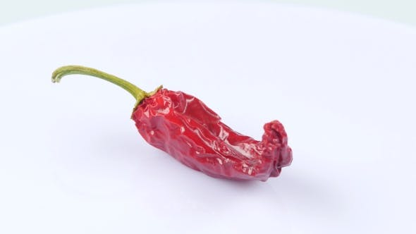 Thumbnail for Dried Red Chili Peppers. White.Rotating.