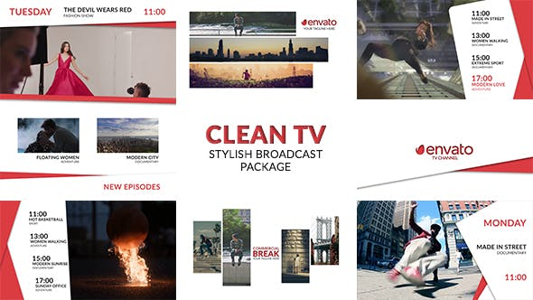 Thumbnail for Clean TV - Stylish Broadcast Pack