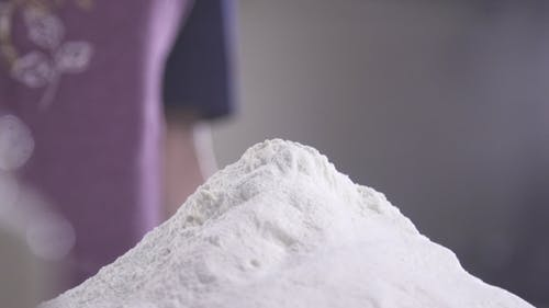 Of Falling Eggs Into Flour Stock. Footage Food.