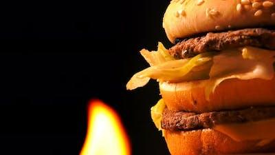 Hamburger On Fire