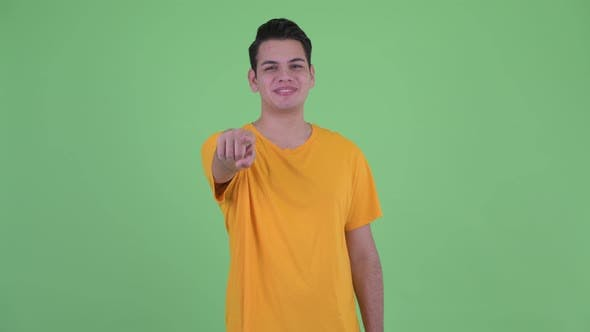 Thumbnail for Happy Young Multi Ethnic Man Pointing at Camera