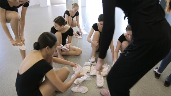 Thumbnail for In Model School Young And Beautiful Women Are Preparing For Dance Class
