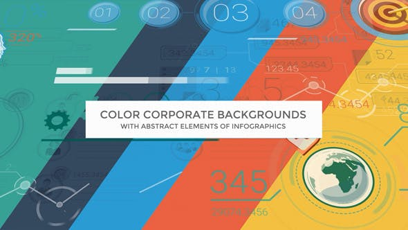 Thumbnail for Color Corporate Backgrounds With Abstract Elements Of Infographics