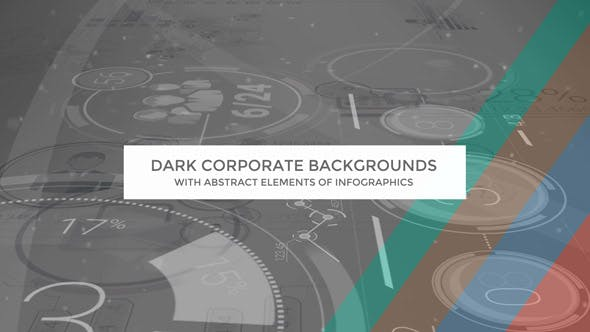 Thumbnail for Dark Corporate Backgrounds With Abstract Elements Of Infographics
