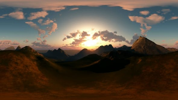 Panoramic Of Canyon At Sunset