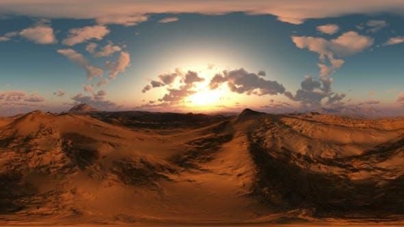 Thumbnail for Panoramic Of Desert At Sunset